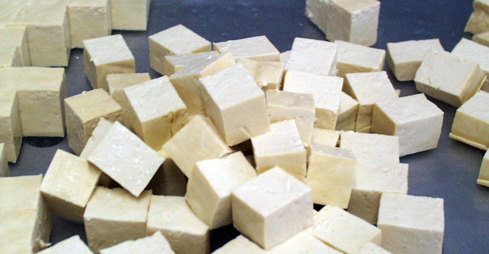 Cutting Tofu Cubes