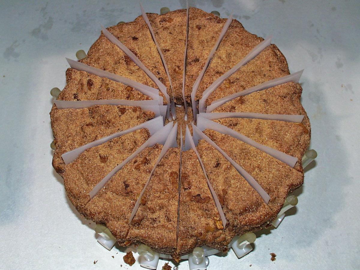 Round Product Portioning Bundt Cake